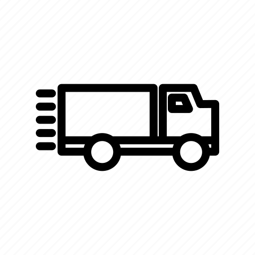 car, ecommerce, fast, retail, send, shop, truck icon
