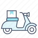 deliver, delivery, scooter icon