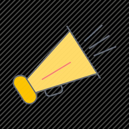 advertising, announcement, marketing, megaphone, sound, speaker, volume icon