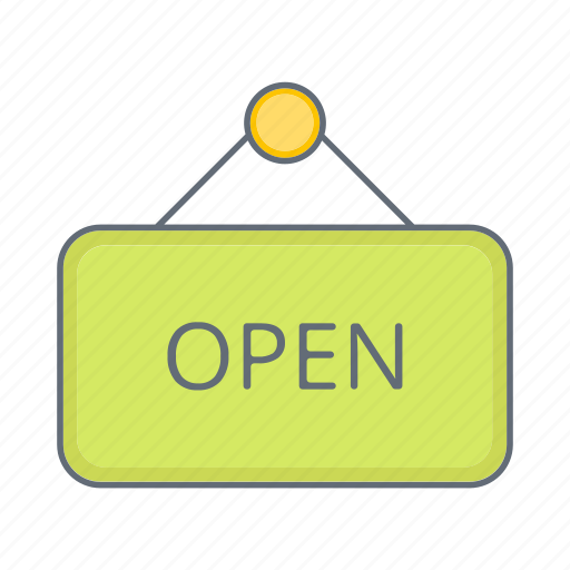 buy, ecommerce, label, open, shop, shopping, store icon