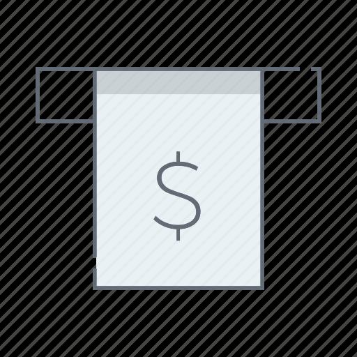 atm, bill, cash, credit, payment, receipt, voucher icon