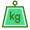 commerce, ecommerce, heavy, kg, kilogram, measure, weight icon