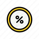 discount, ecommerce, percent, sale, shopping, transaction icon