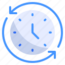 arrow, clockwise, commerce, ecommerce, load, refresh, time icon