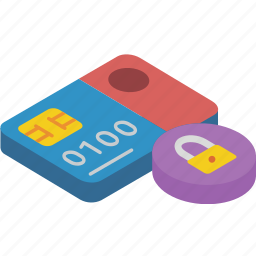 card, commerce, locked, sales, shopping icon