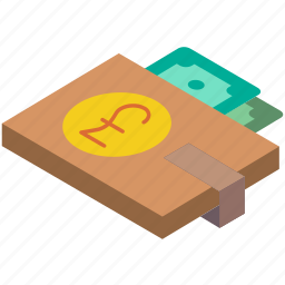 commerce, pound, sales, shopping, wallet icon
