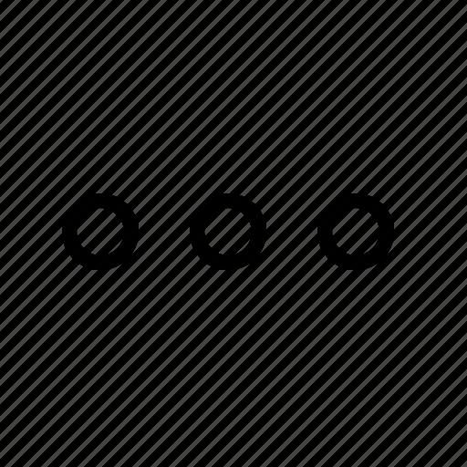 dots, ecomerce, menu, more, option, other, service icon