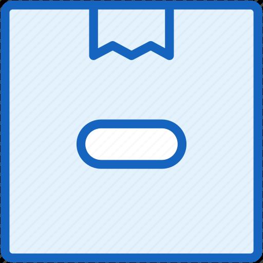 box, commerce, e, hide icon