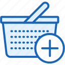 add, basket, commerce, e, plus icon