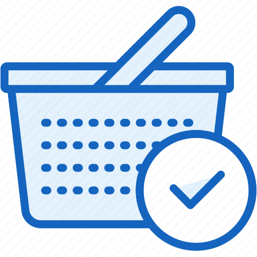 basket, buy, commerce, done, e icon