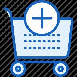 add, buy, cart, commerce, e, plus icon