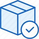 box, check, commerce, e, shipping icon
