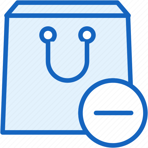 commerce, e, minus, package, purchase icon