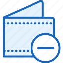 commerce, e, minus, wallet icon