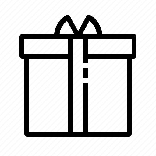 birthday, box, gift, package, present, product, wrapping icon