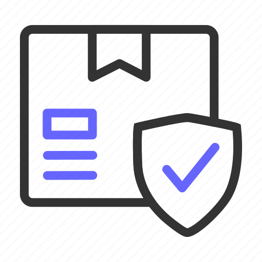 assurance, ecommerce, package, protected icon