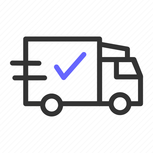 delivery, ecommerce, success icon