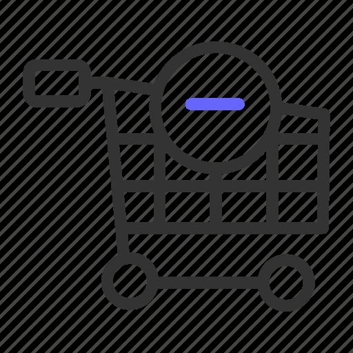 cart, ecommerce, remove icon