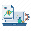 analytics, finance, money, optimization, report, sales, statics icon