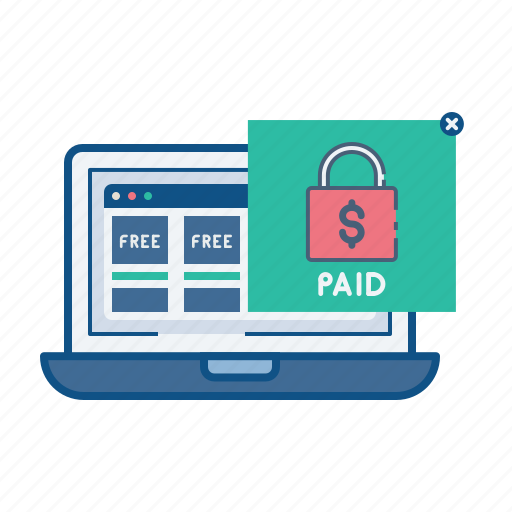ecommerce, free, item, online, paid, shop, store icon