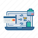 banking, internet, online, payment, secure, transaction, wallet icon