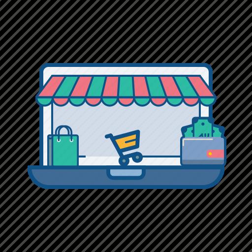 Bag, cart, ecommerce, online, shop, store, wallet icon - Download on Iconfinder