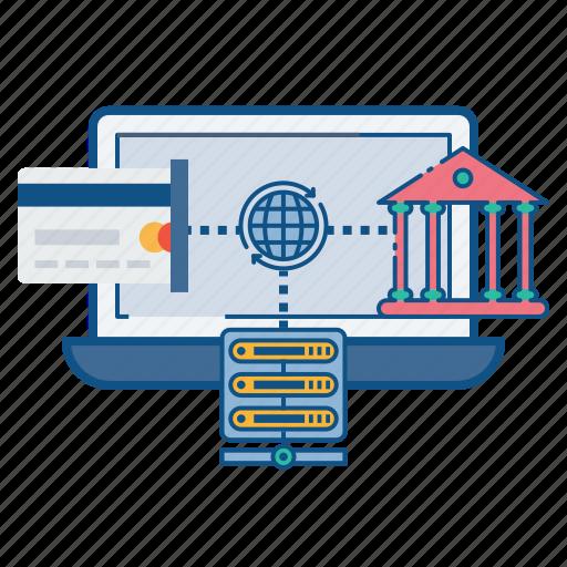 banking, database, internet, net, online, secure, web icon