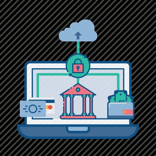 cloud, e-banking, internet, net, secure, web icon