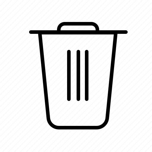 bag, basket, bin, bucket, cart, cleaning, rycle bin icon