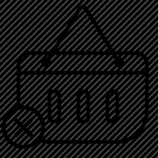cart, delete, delete cart, delete product, erase icon
