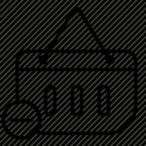 cart, cart delete, delete, product icon