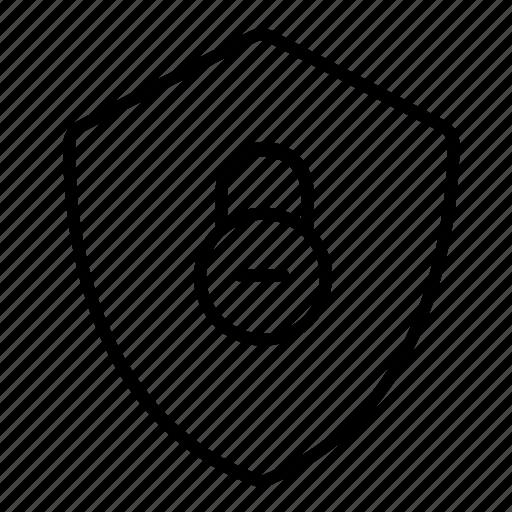 locking, protect, secure, shield, shield locking icon
