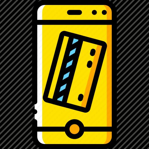 credit, debit, ecommerce, mobile, payment, visa icon