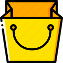 bag, ecommerce, shopping, yellow icon