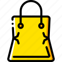 bag, ecommerce, empty, shopping, yellow icon