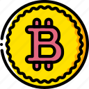 bit, coin, currency, ecommerce, money, payment, yellow icon
