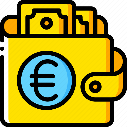 currency, ecommerce, euro, money, payment, wallet icon