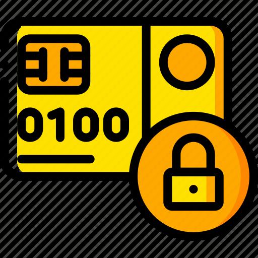 card, credit, debit, ecommerce, locked, payment, visa icon