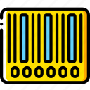 bar, code, ecommerce, yellow icon