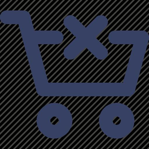 cart, delete, ecommerce, shop, shopping, ui, web icon