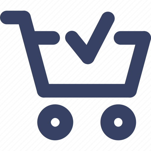 cart, check, ecommerce, shop, shopping, ui, web icon