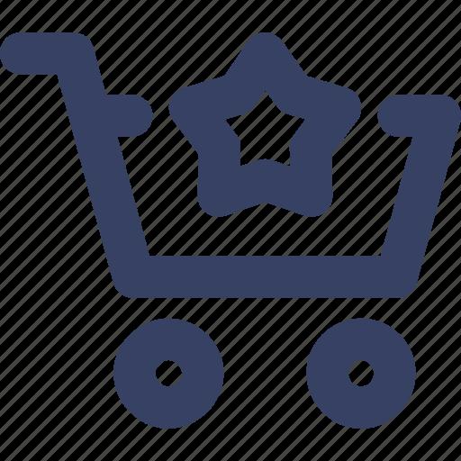 cart, ecommerce, shop, shopping, star, ui, web icon