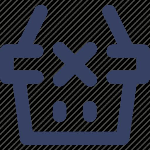 basket, ecommerce, remove, shop, shopping, ui, web icon