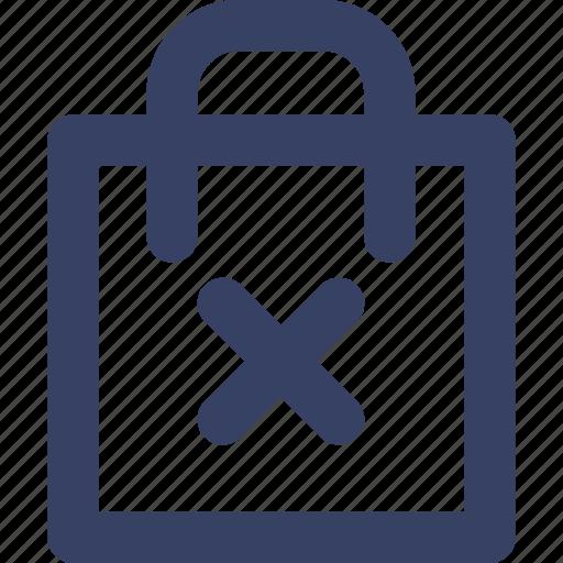 bag, delete, ecommerce, shop, shopping, ui, web icon