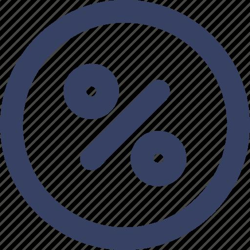 ecommerce, fee, percent, shop, shopping, ui, web icon