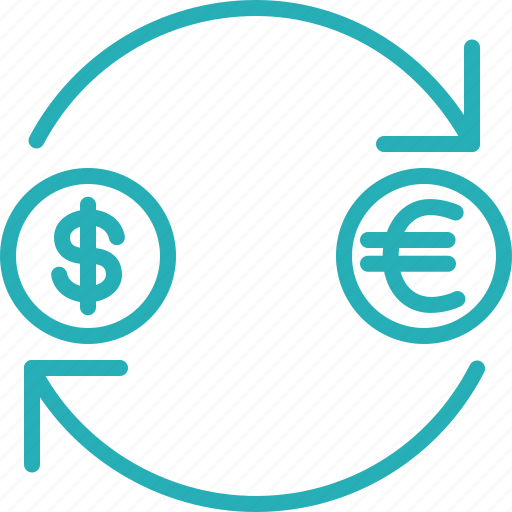 convert, currency, dollar, euro, exchange, money icon