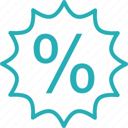 discount, label, offer, percent, percentage, price, tag icon