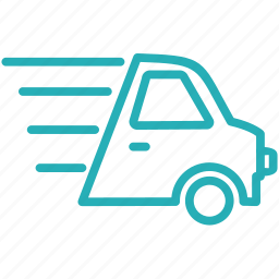 delivery, free delivery, logistics, road, shipping, transportation, van icon
