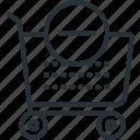 commerce, e, minus, cart