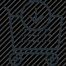 buy, cart, commerce, e icon